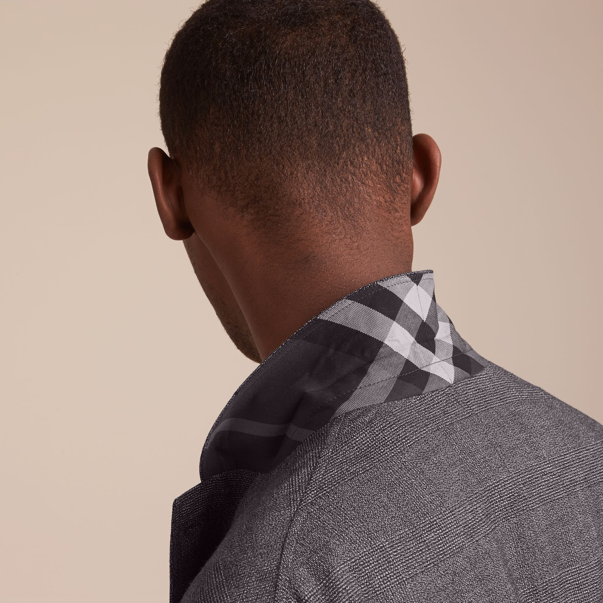 Prince of Wales Cotton Wool Blend Blazer - gallery image 5