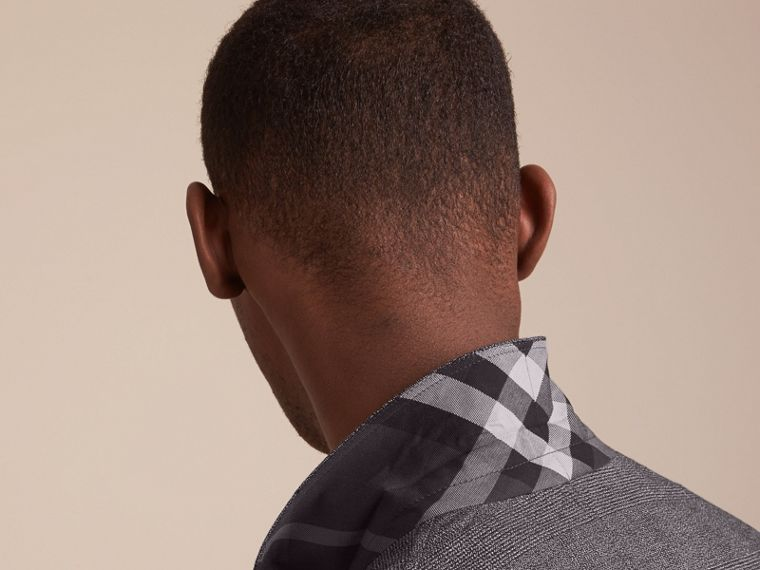 Prince of Wales Cotton Wool Blend Blazer - cell image 4