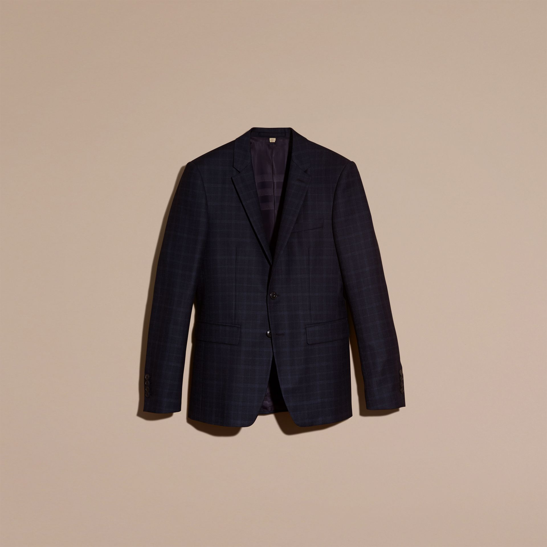Ink Slim Fit Check Wool Tailored Jacket - gallery image 4
