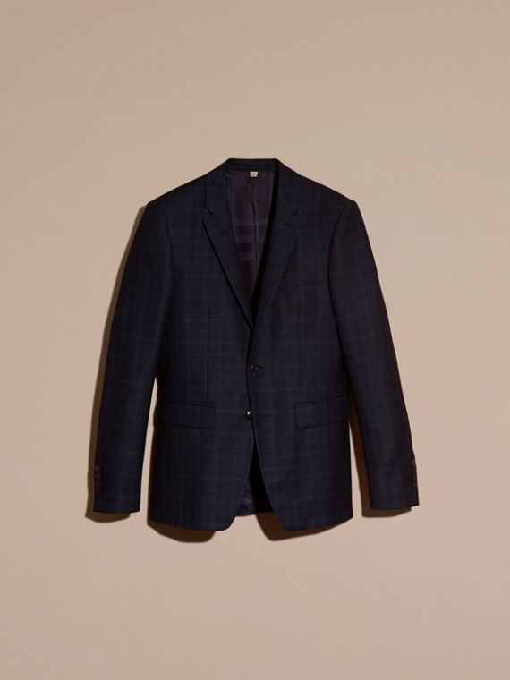 Ink Slim Fit Check Wool Tailored Jacket - cell image 3
