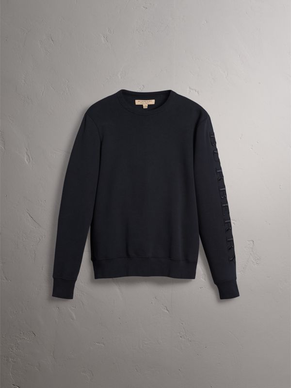 Cotton Jersey Sweatshirt in Black - Men | Burberry - cell image 3