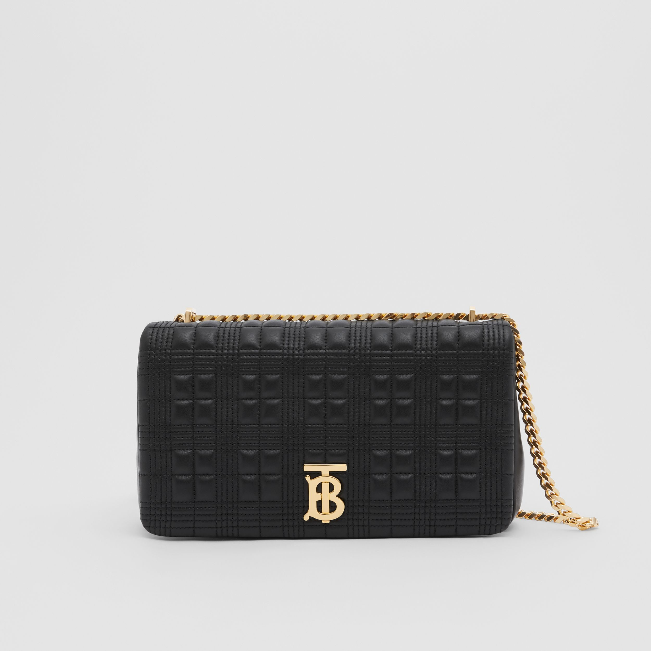 Medium Quilted Lambskin Lola Bag in Black/light Gold - Women | Burberry - 1