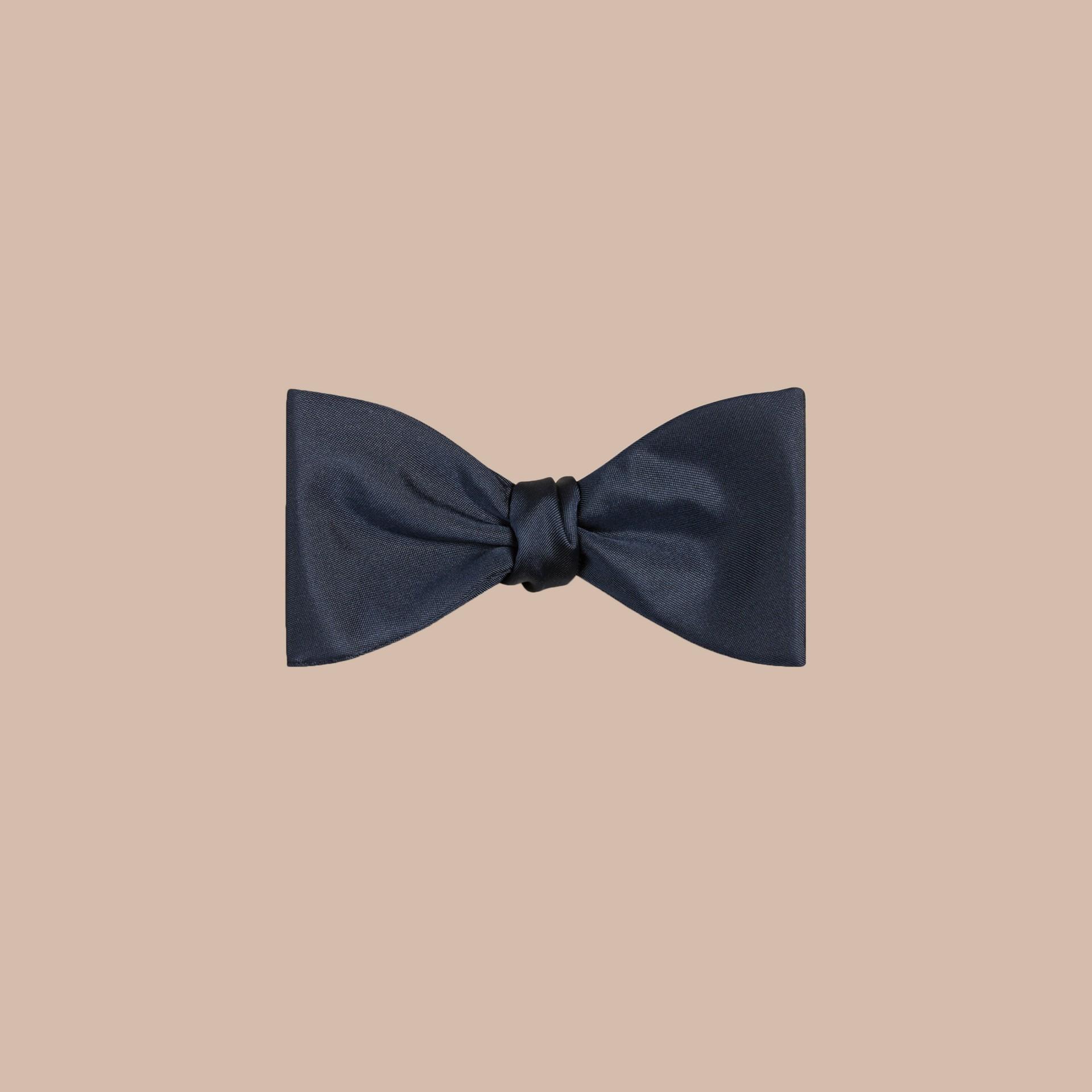 Navy Silk Bow Tie - gallery image 1
