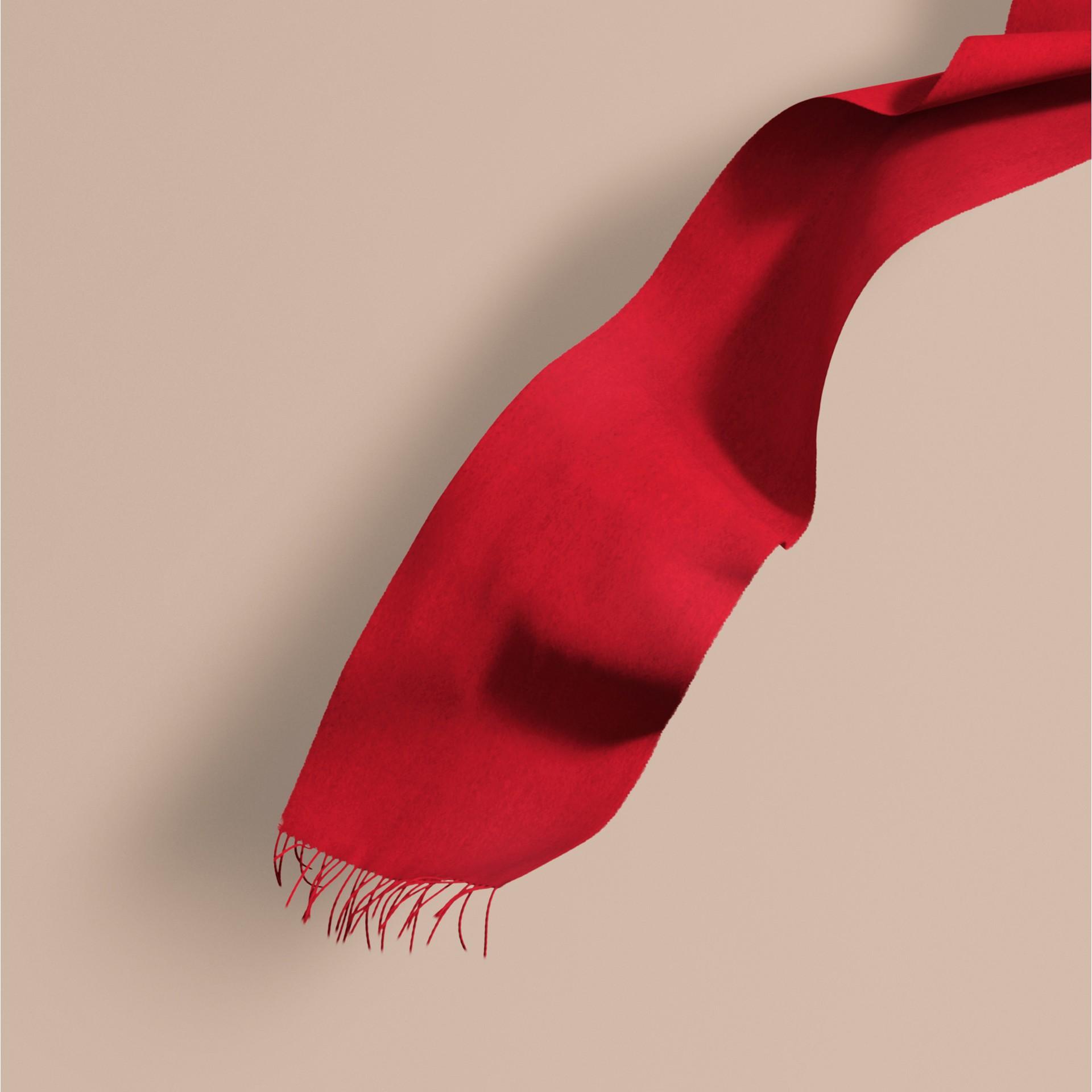 Vermelho paixão Cachecol clássico de cashmere Vermelho Paixão - galeria de imagens 1
