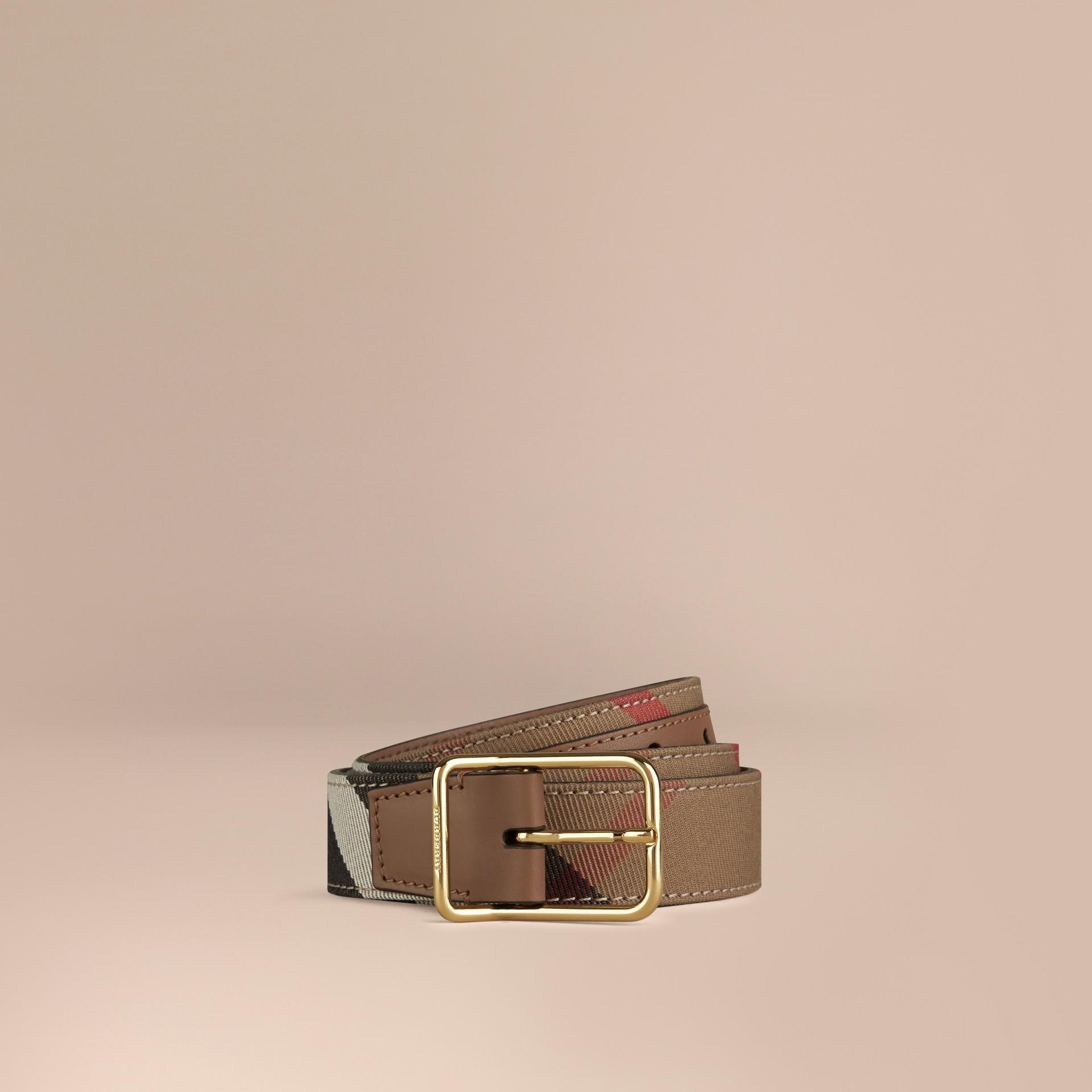 Dunkles sandfarben Gürtel in House Check Dunkles Sandfarben - Galerie-Bild 1