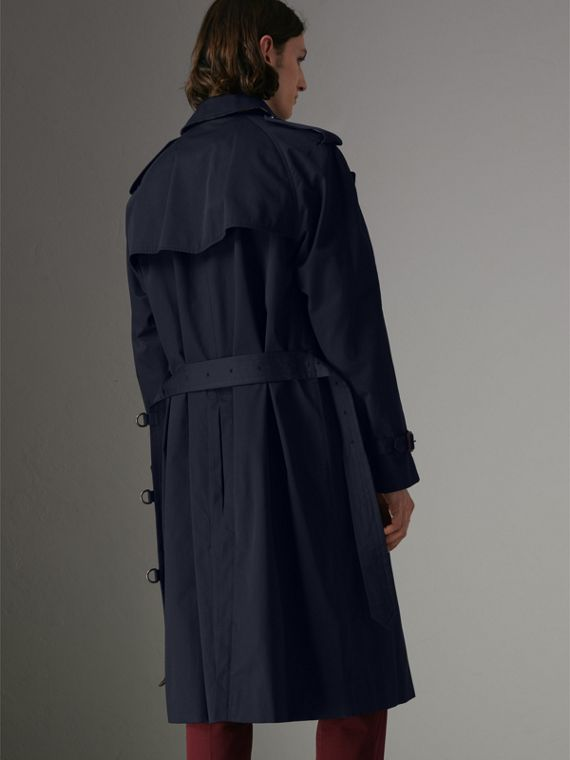 Painted Vintage Check-lined Gabardine Trench Coat in Ink Blue - Men | Burberry - cell image 2
