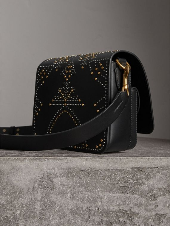 The Satchel squadrata in pelle con rivetti (Nero) - Donna | Burberry - cell image 3