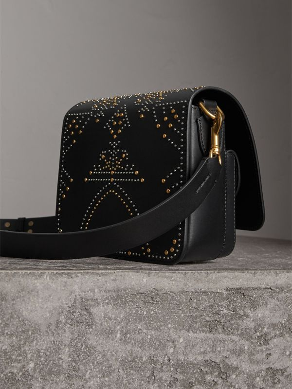 Sac The Satchel carré en cuir riveté (Noir) - Femme | Burberry - cell image 3