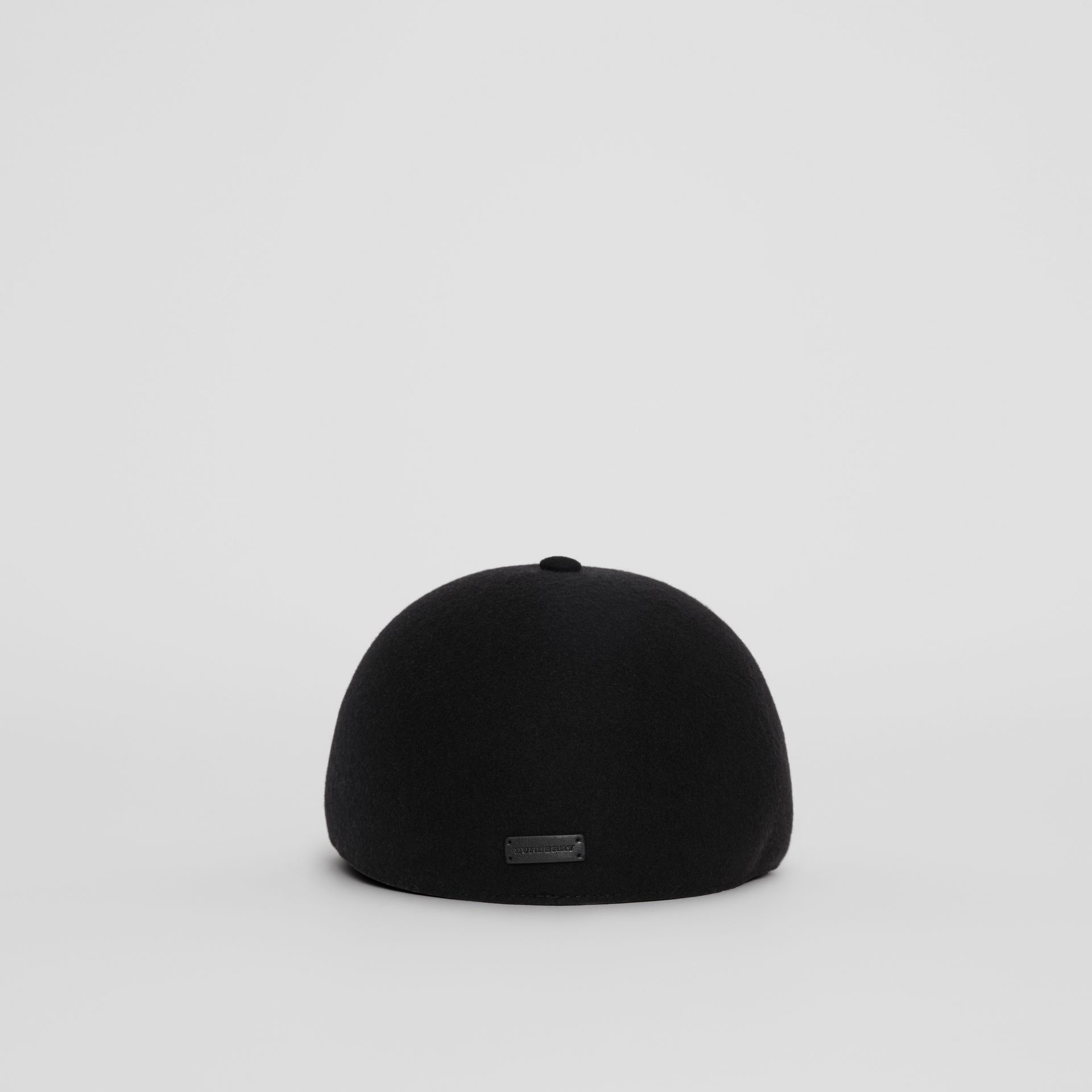 Felted Wool Baseball Cap in Black | Burberry United States - gallery image 4