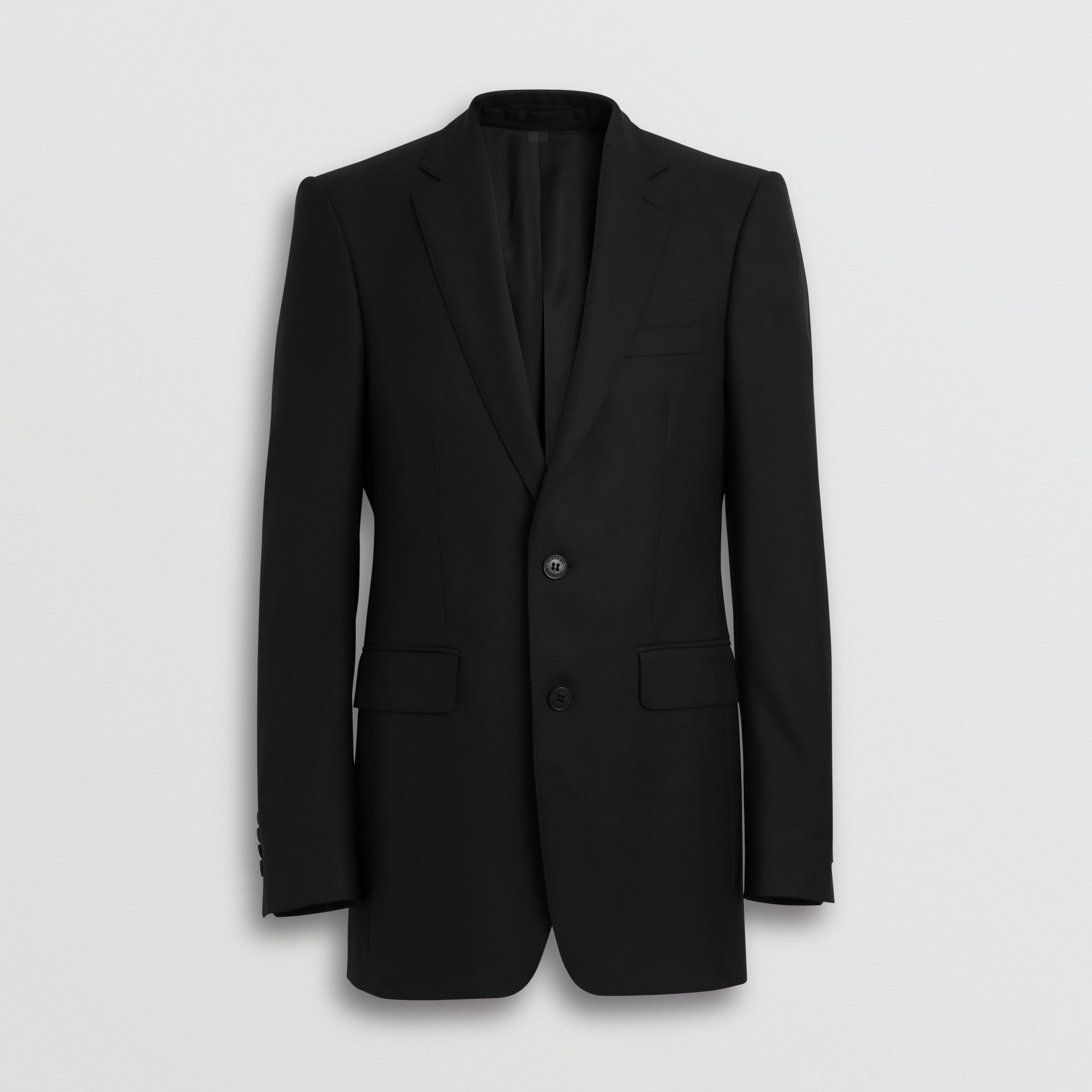 Classic Fit Wool Twill Suit in Black - Men | Burberry United Kingdom - gallery image 3