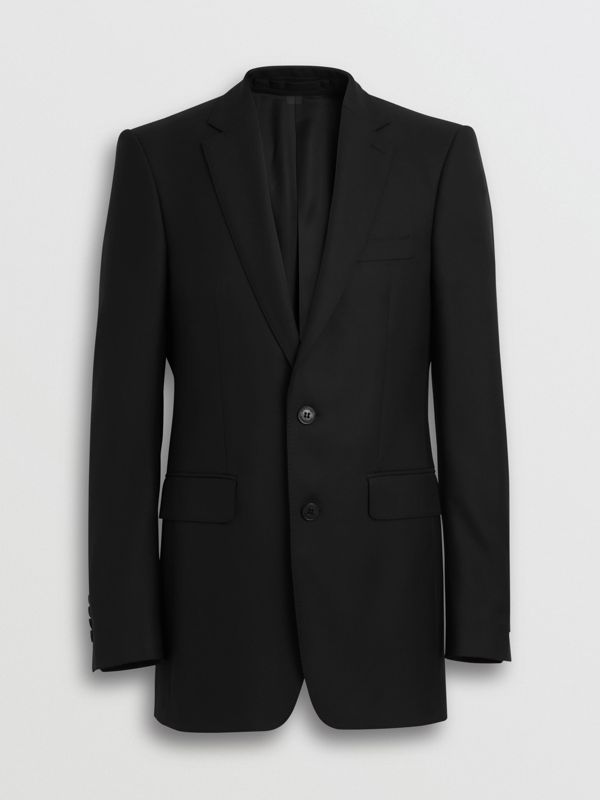 Classic Fit Wool Twill Suit in Black - Men | Burberry Canada - cell image 3