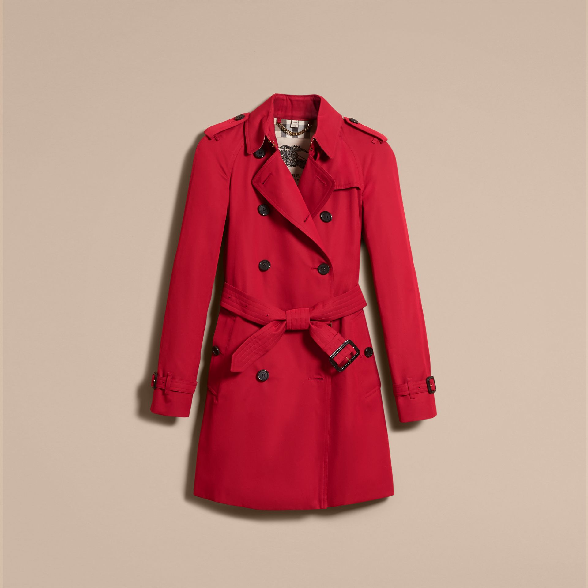 Parade red The Westminster – Mid-Length Heritage Trench Coat Parade Red - gallery image 4