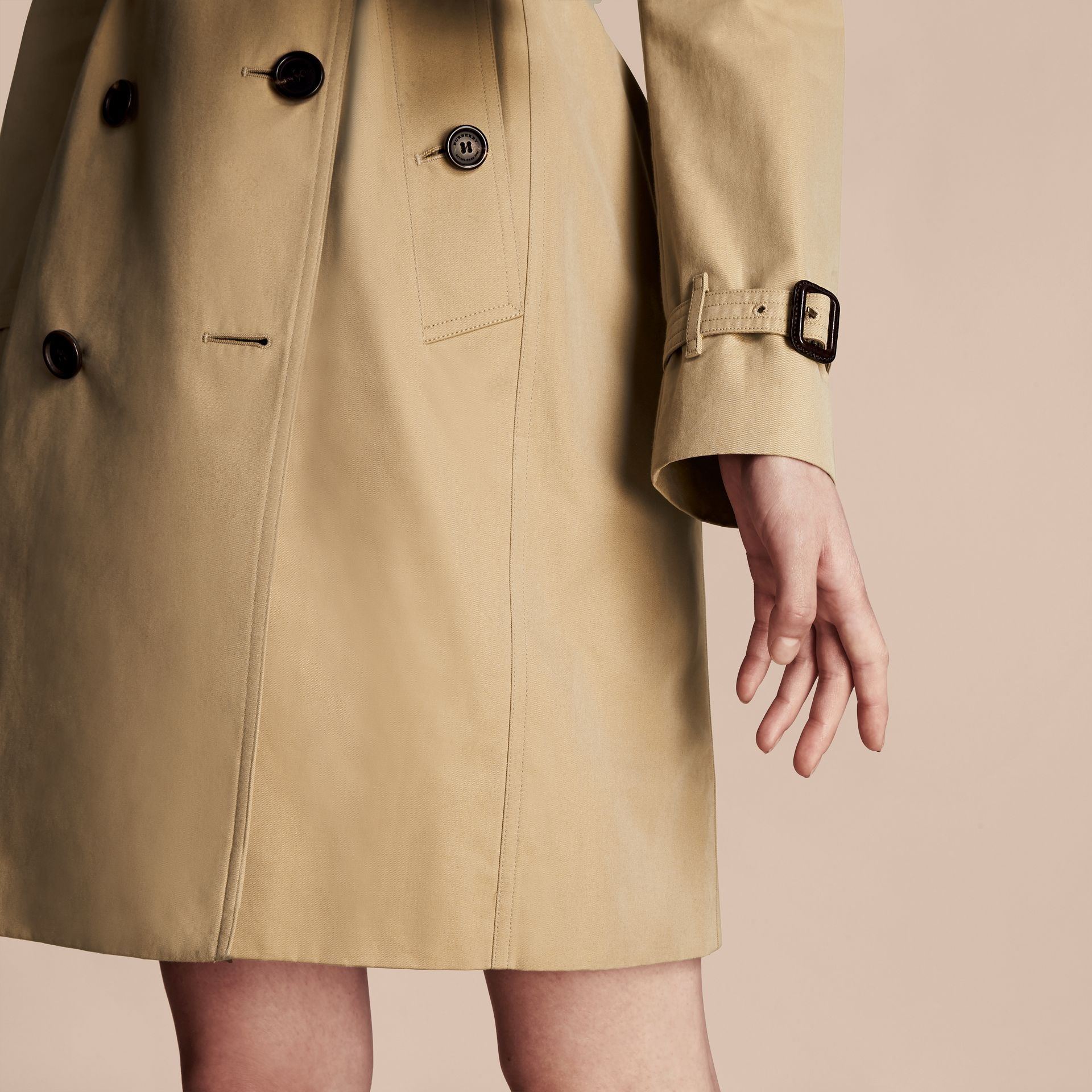 Honey The Kensington – Long Heritage Trench Coat Honey - gallery image 7