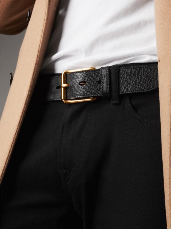 Grainy Leather Belt in Black - Men | Burberry United Kingdom - cell image 2