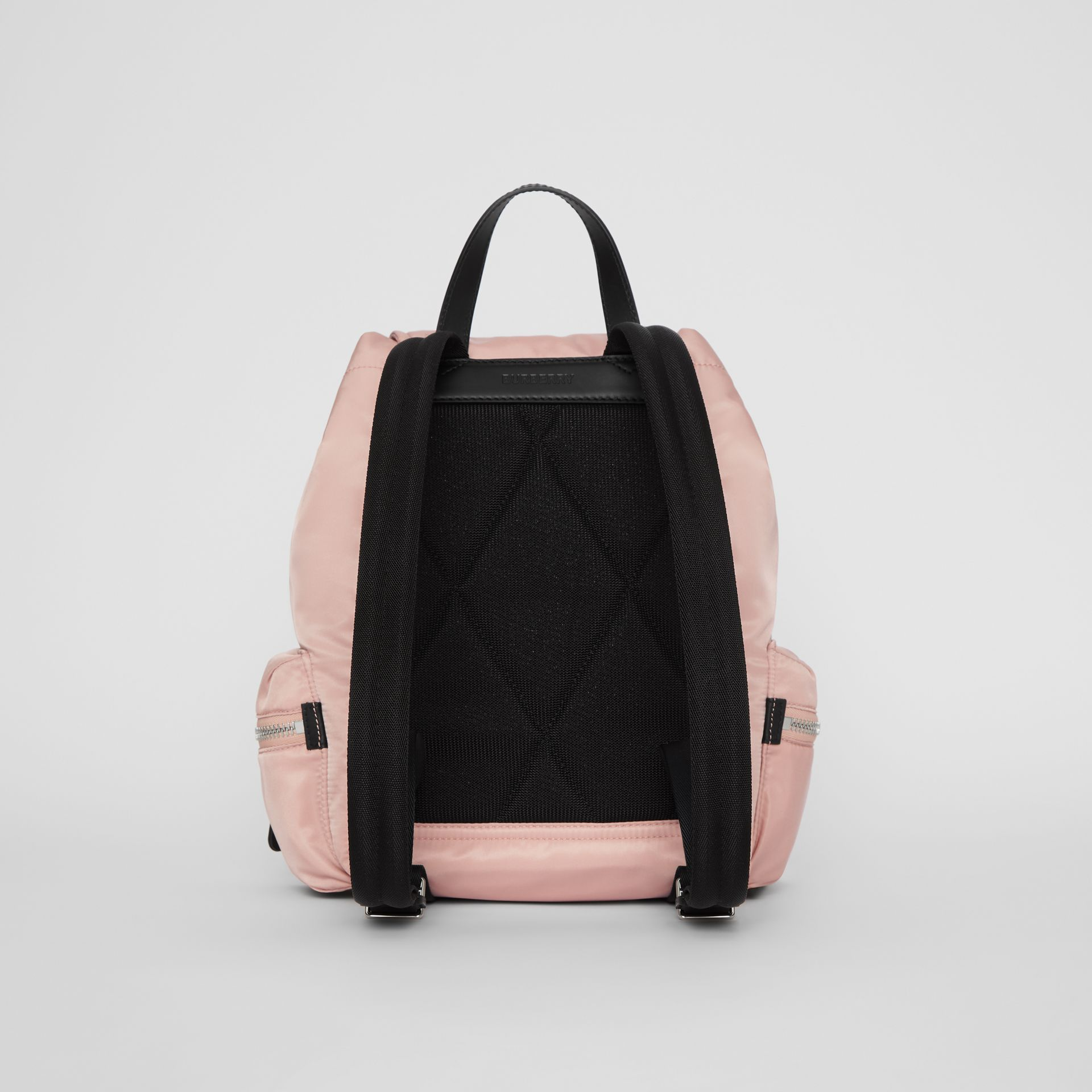 The Medium Rucksack in Logo Print Nylon in Rose Beige - Women | Burberry - gallery image 5