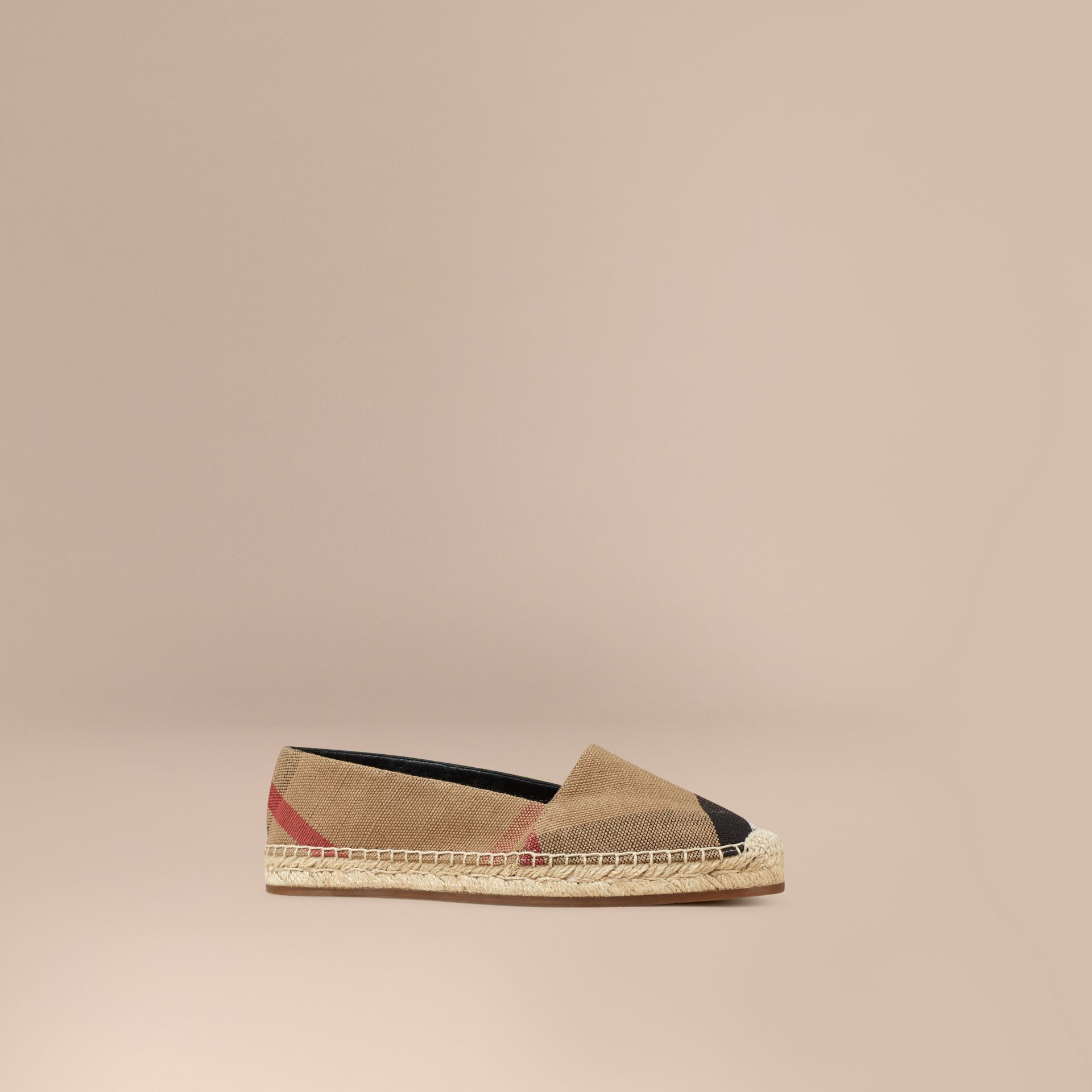 Check Jute Cotton Espadrilles - gallery image 1