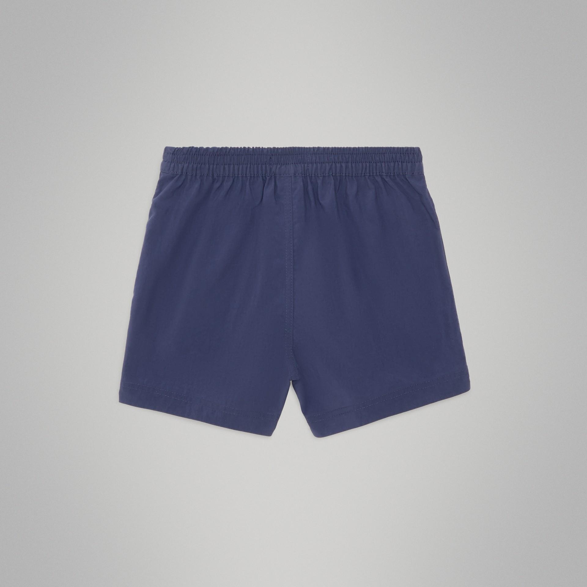 Drawcord Swim Shorts in Indigo - Children | Burberry Australia - gallery image 3