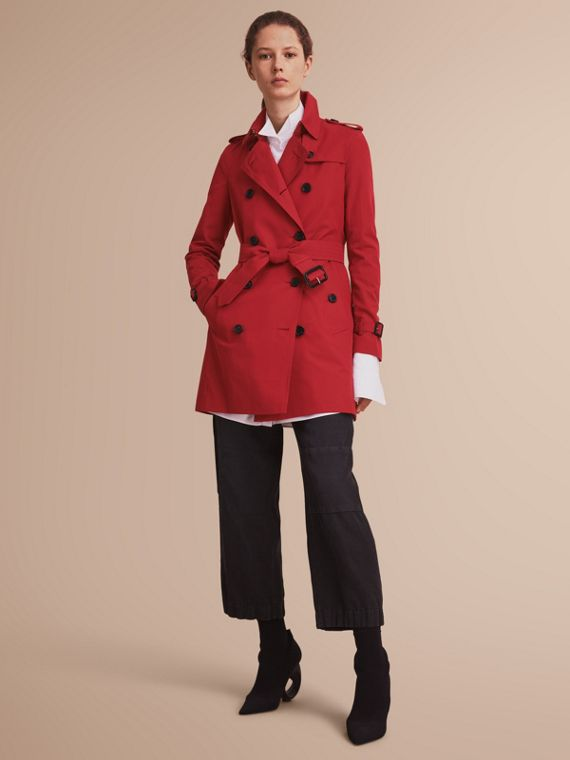 The Kensington – Mid-Length Heritage Trench Coat in Parade Red - Women | Burberry