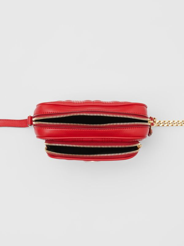 Small Quilted Lambskin Camera Bag in Bright Red | Burberry - cell image 3