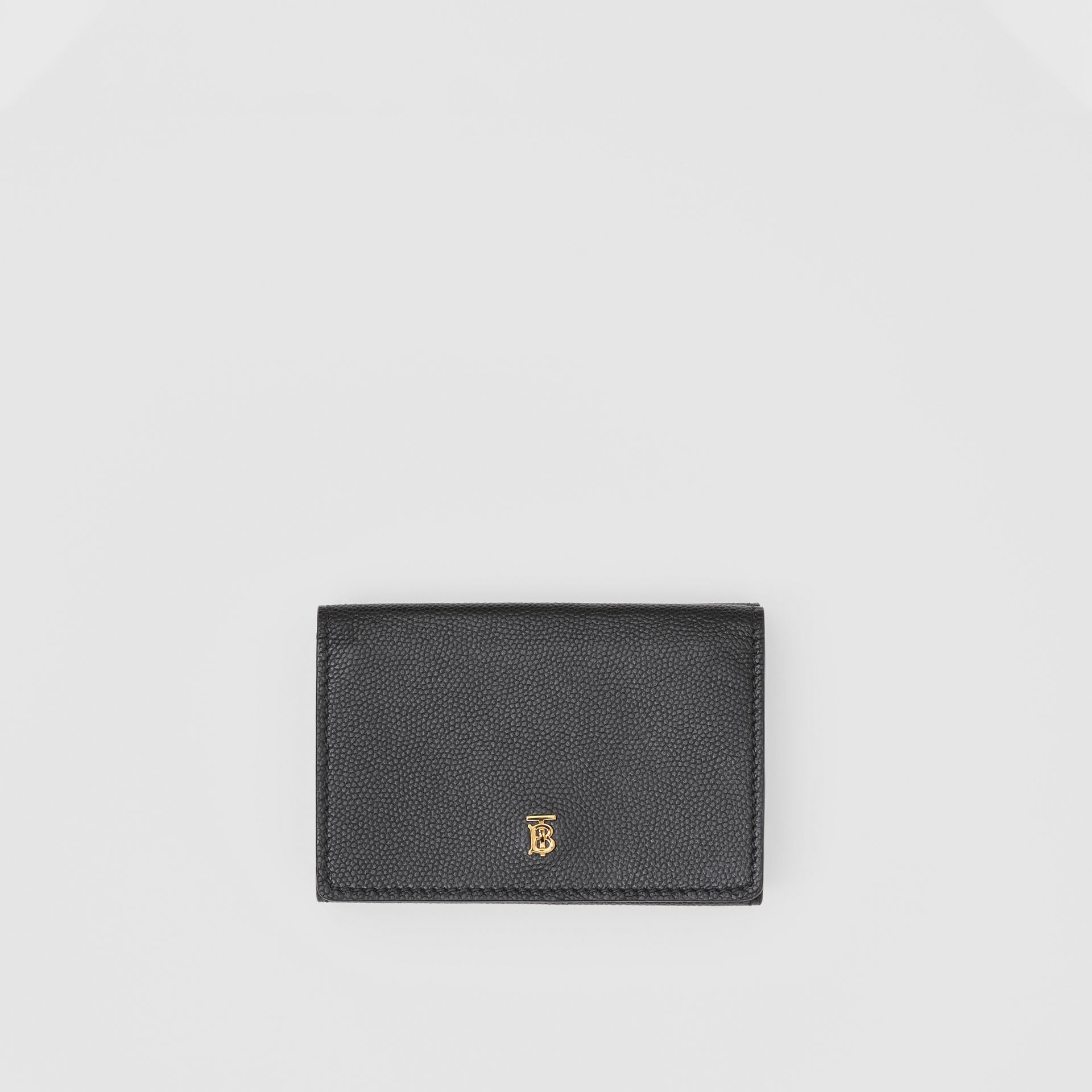 Small Grainy Leather Folding Wallet in Black - Women | Burberry Canada - gallery image 0