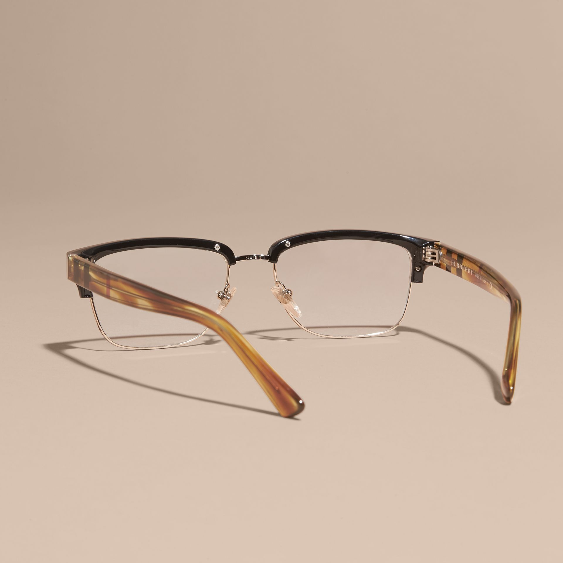 Black Half-rimmed Oval Optical Frames Black - gallery image 4