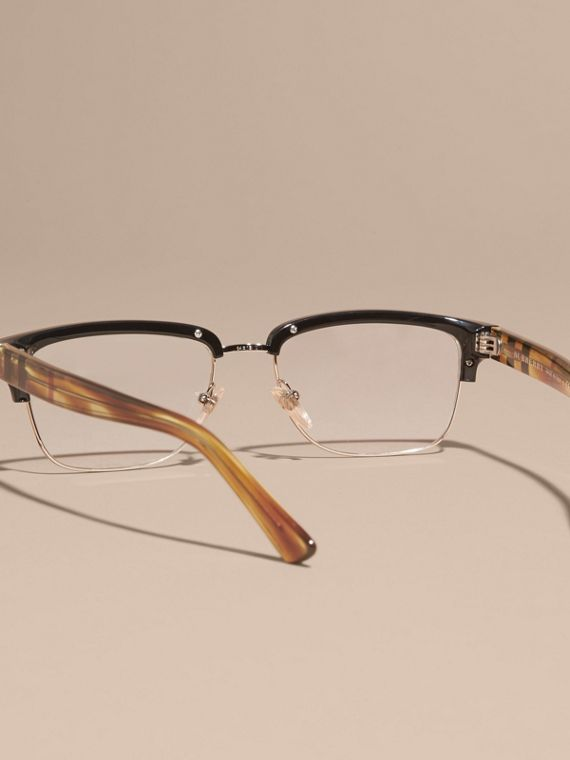 Half-rimmed Oval Optical Frames Black - cell image 3