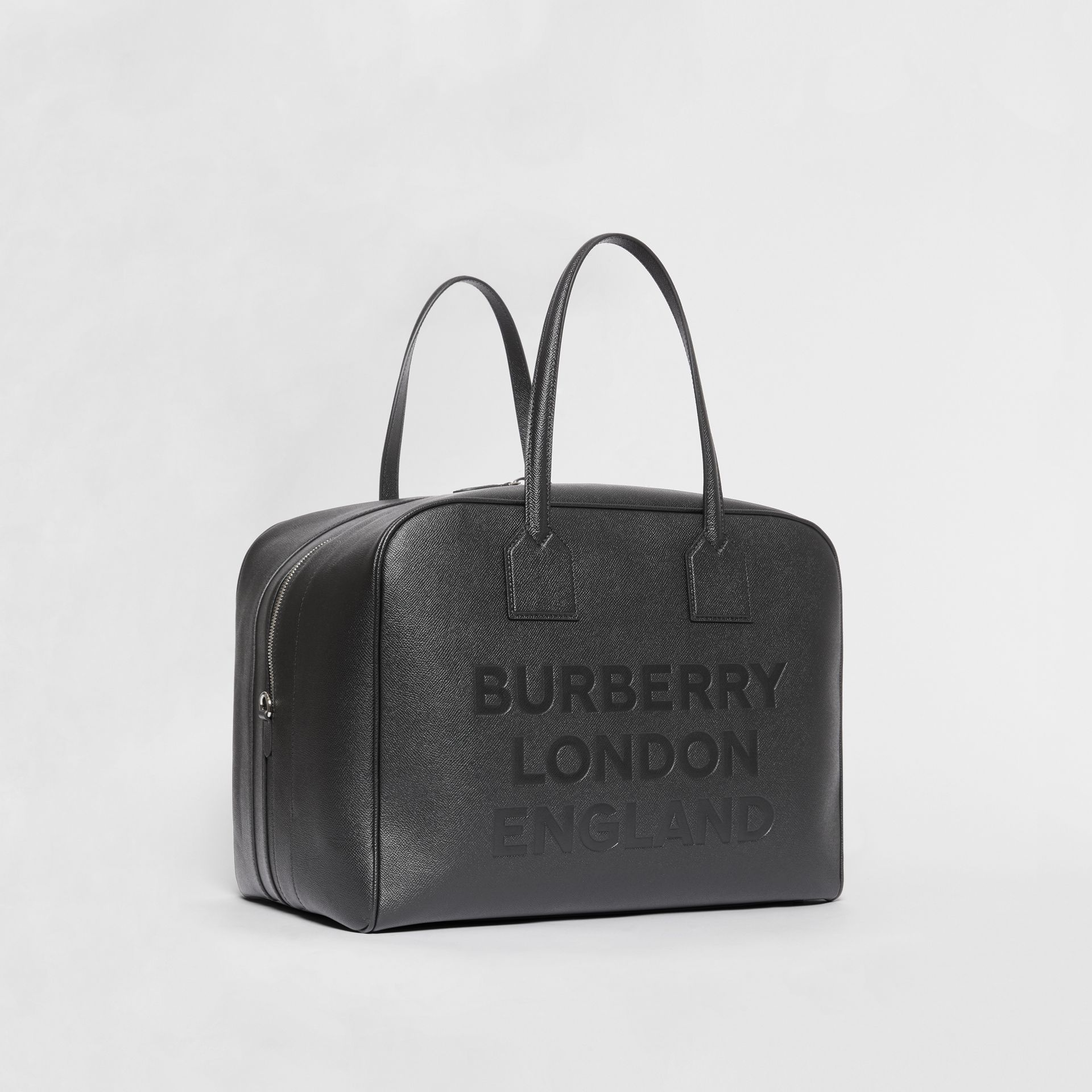 Large Leather Cube Bag in Black | Burberry - gallery image 4