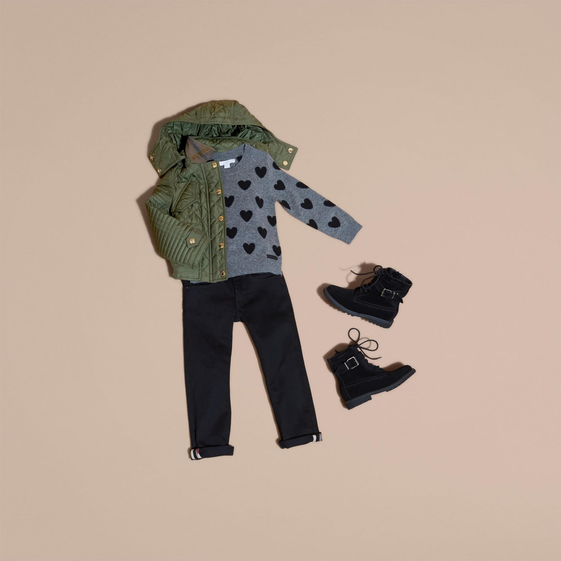 Oliva Giacca trapuntata con cappuccio amovibile - immagine della galleria 5