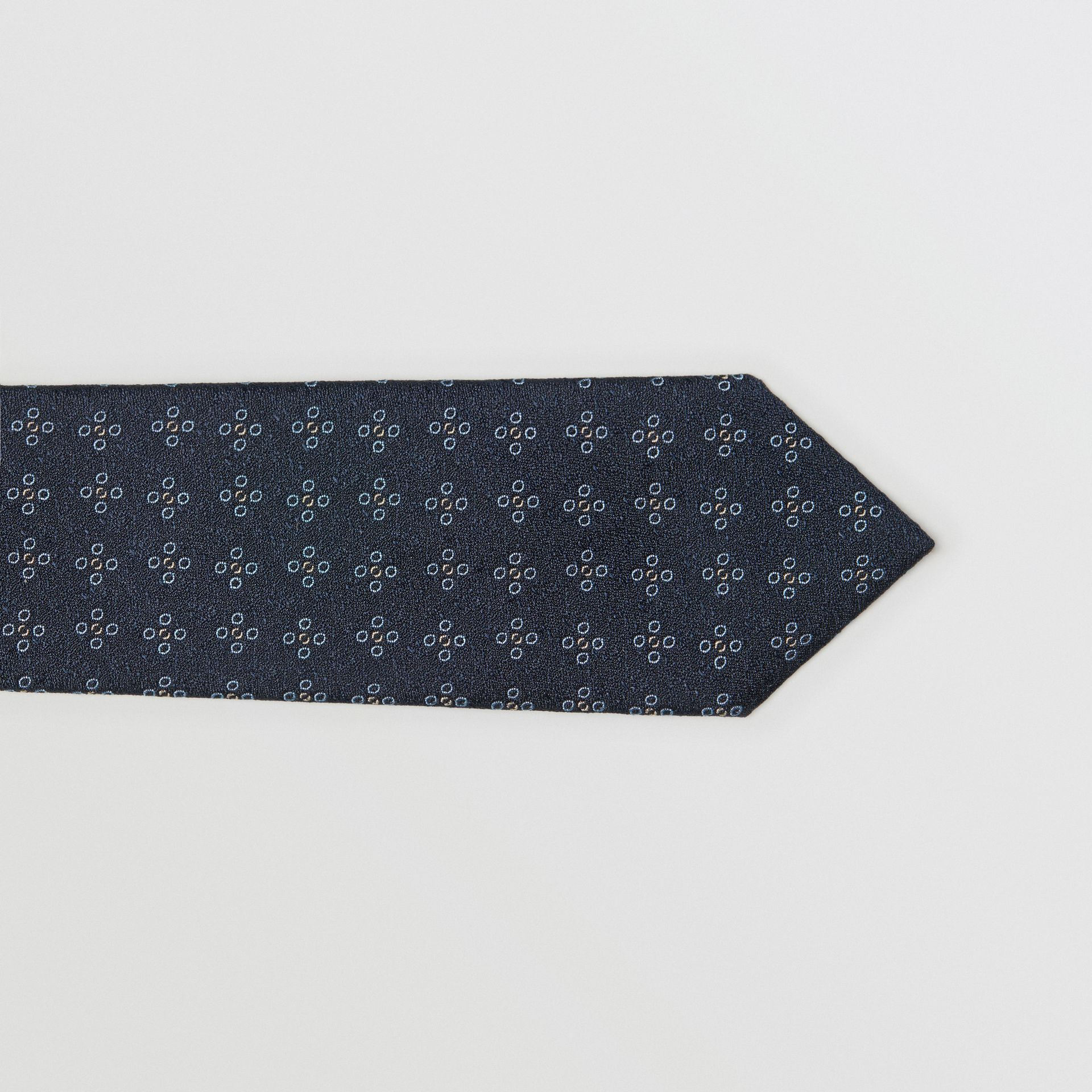 Modern Cut Graphic Floral Silk Jacquard Tie in Pale Peridot Blue - Men | Burberry - gallery image 1