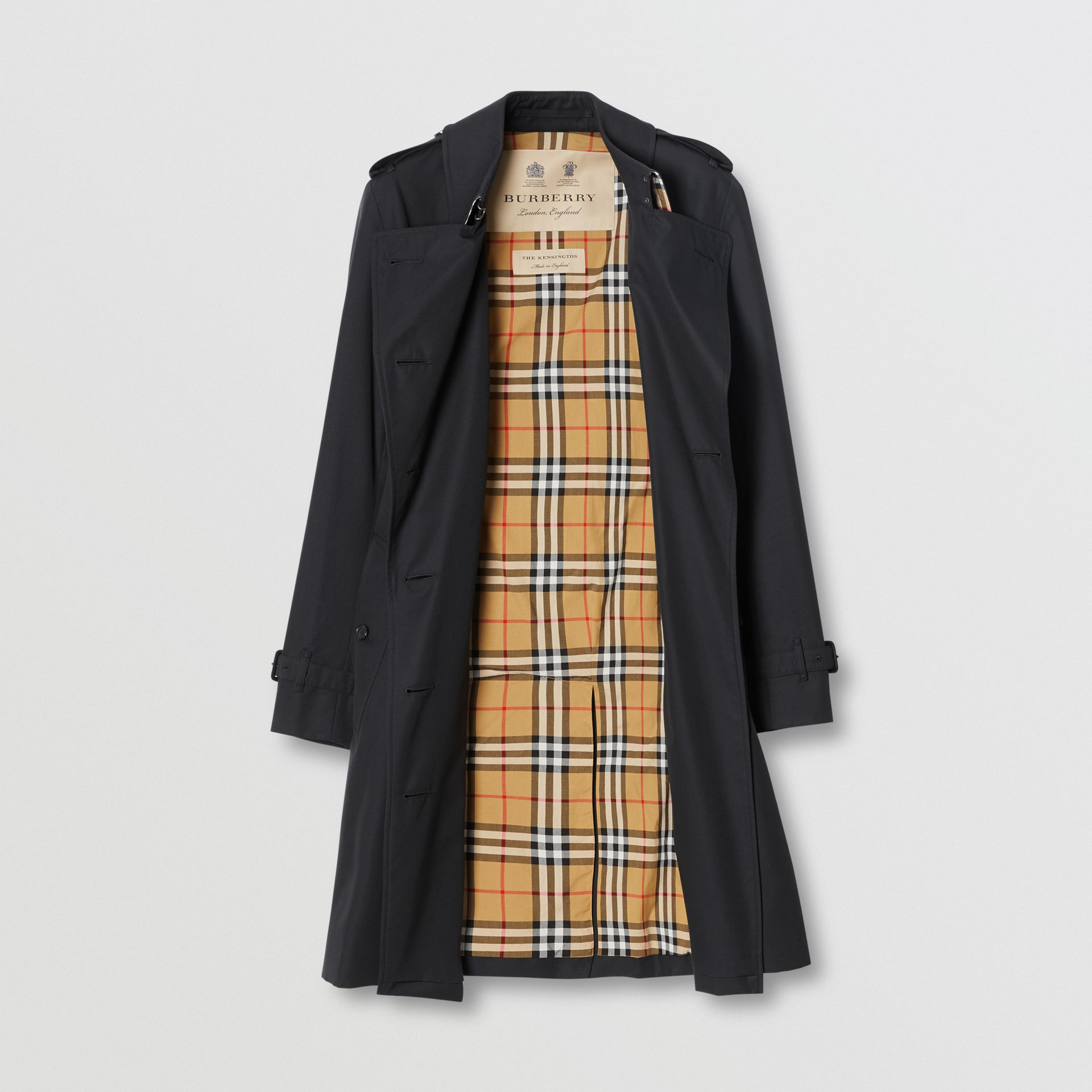 The Mid-length Kensington Heritage Trench Coat in Midnight - Women | Burberry United Kingdom - gallery image 8