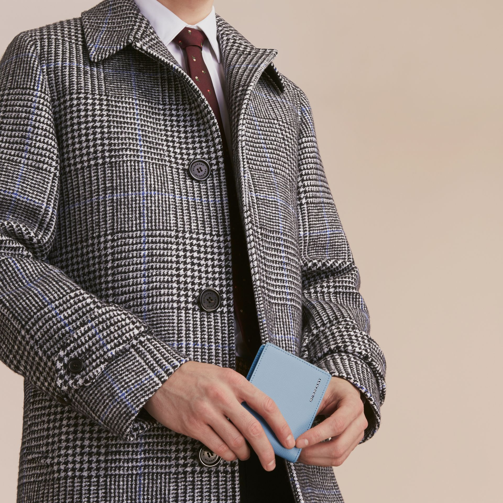 London Leather Bifold Wallet in Powder Blue - gallery image 3
