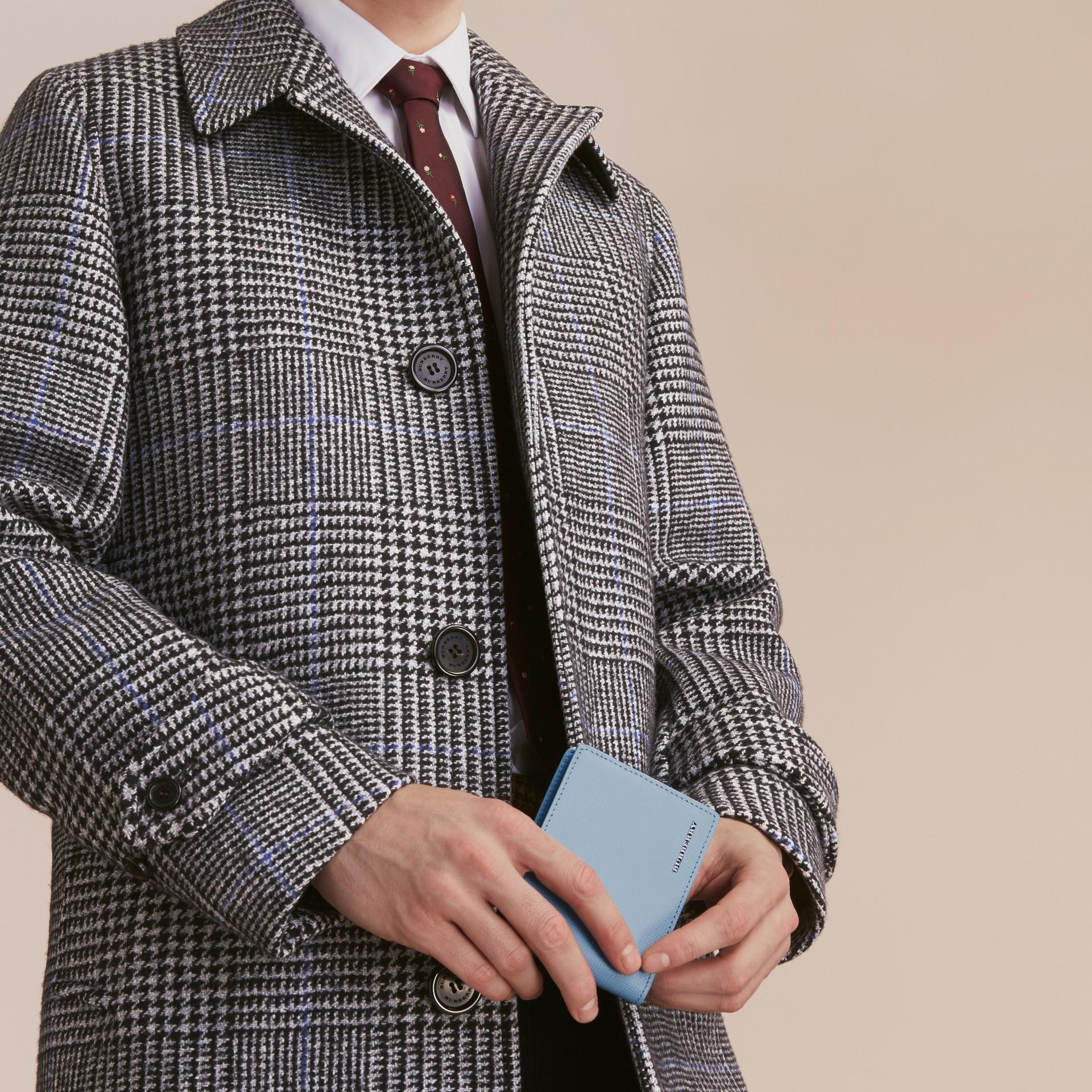 London Leather Bifold Wallet Powder Blue - gallery image 3