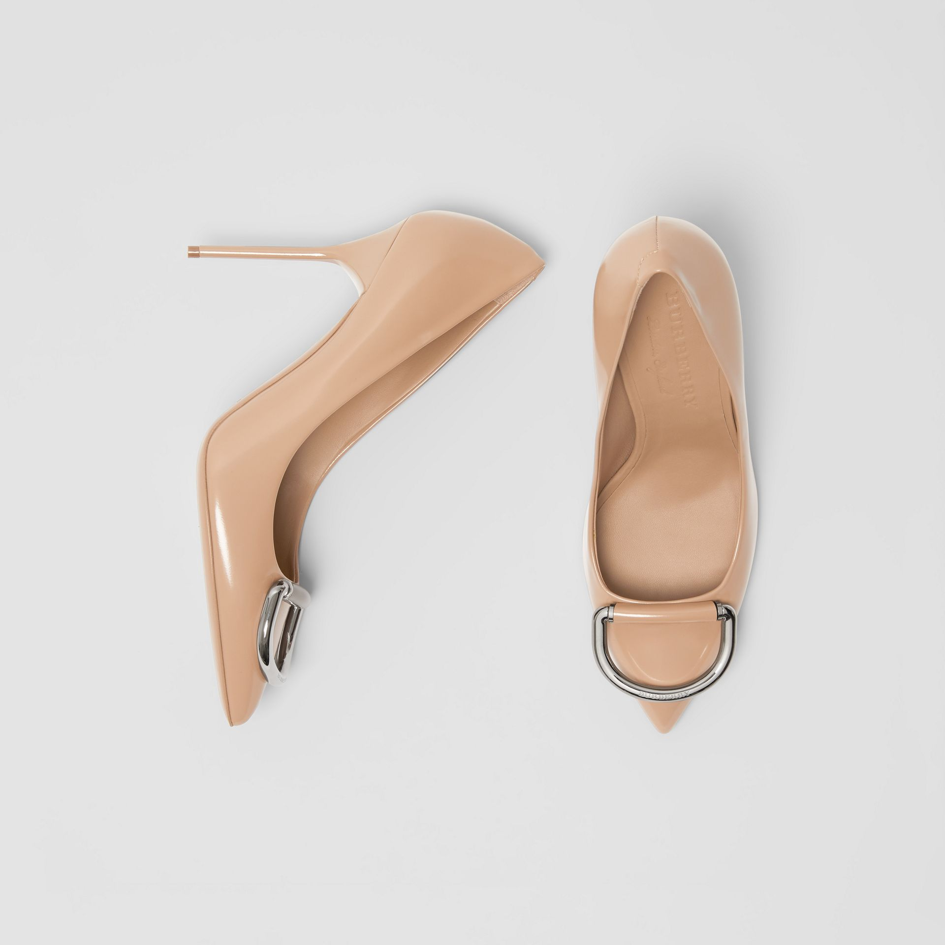 The Leather D-ring Stiletto in Nude Blush - Women | Burberry Canada - gallery image 0