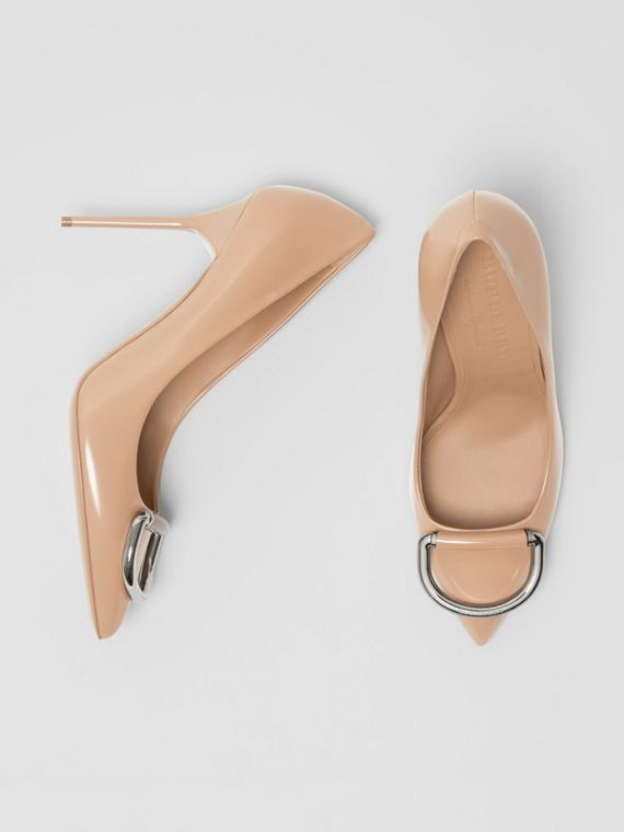 The Leather D-ring Stiletto in Nude Blush