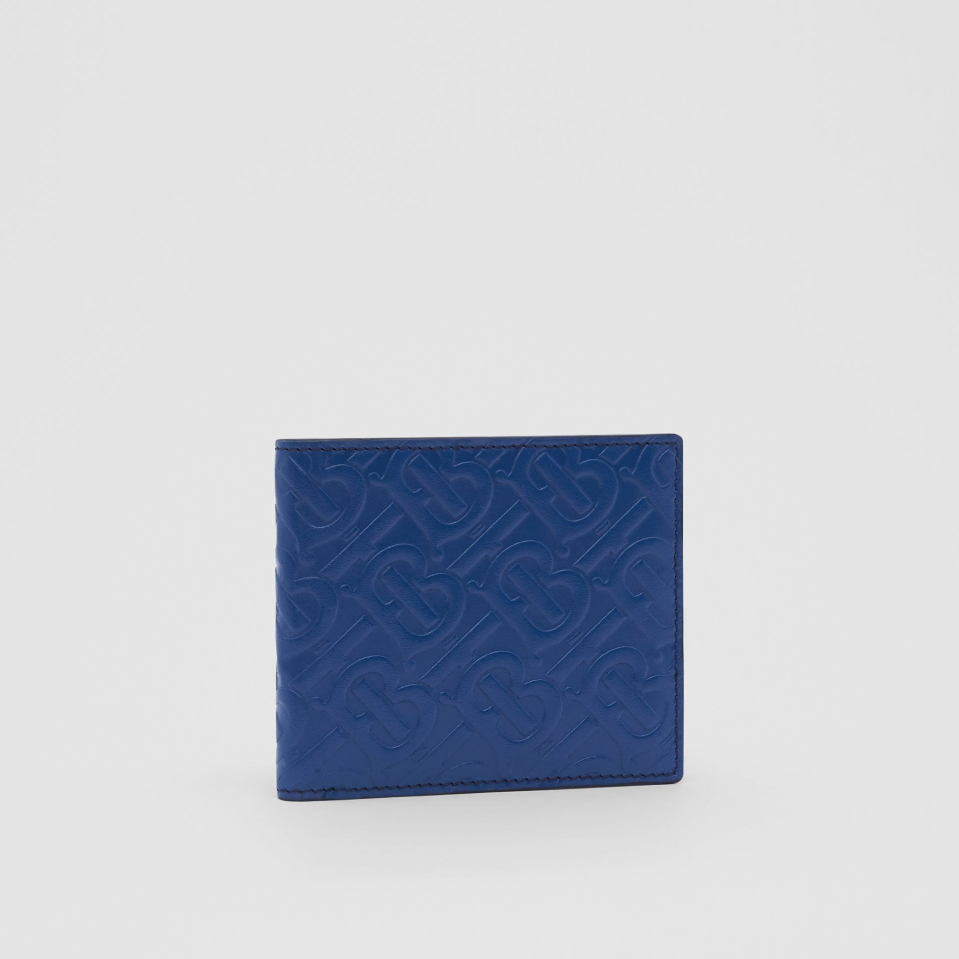 Monogram Leather International Bifold Wallet in Pale Canvas Blue - Men | Burberry United States - gallery image 3