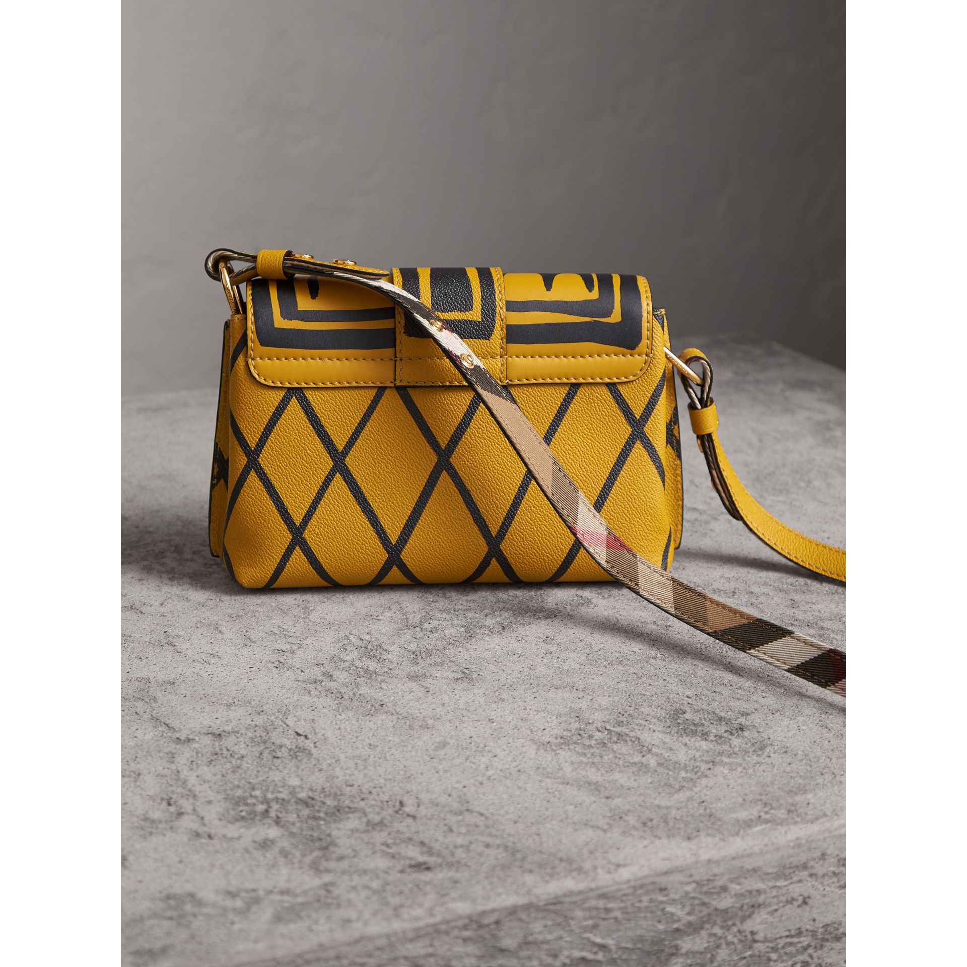 The Buckle Crossbody Bag in Trompe L'oeil Leather in Bright Straw - Women | Burberry - gallery image 5