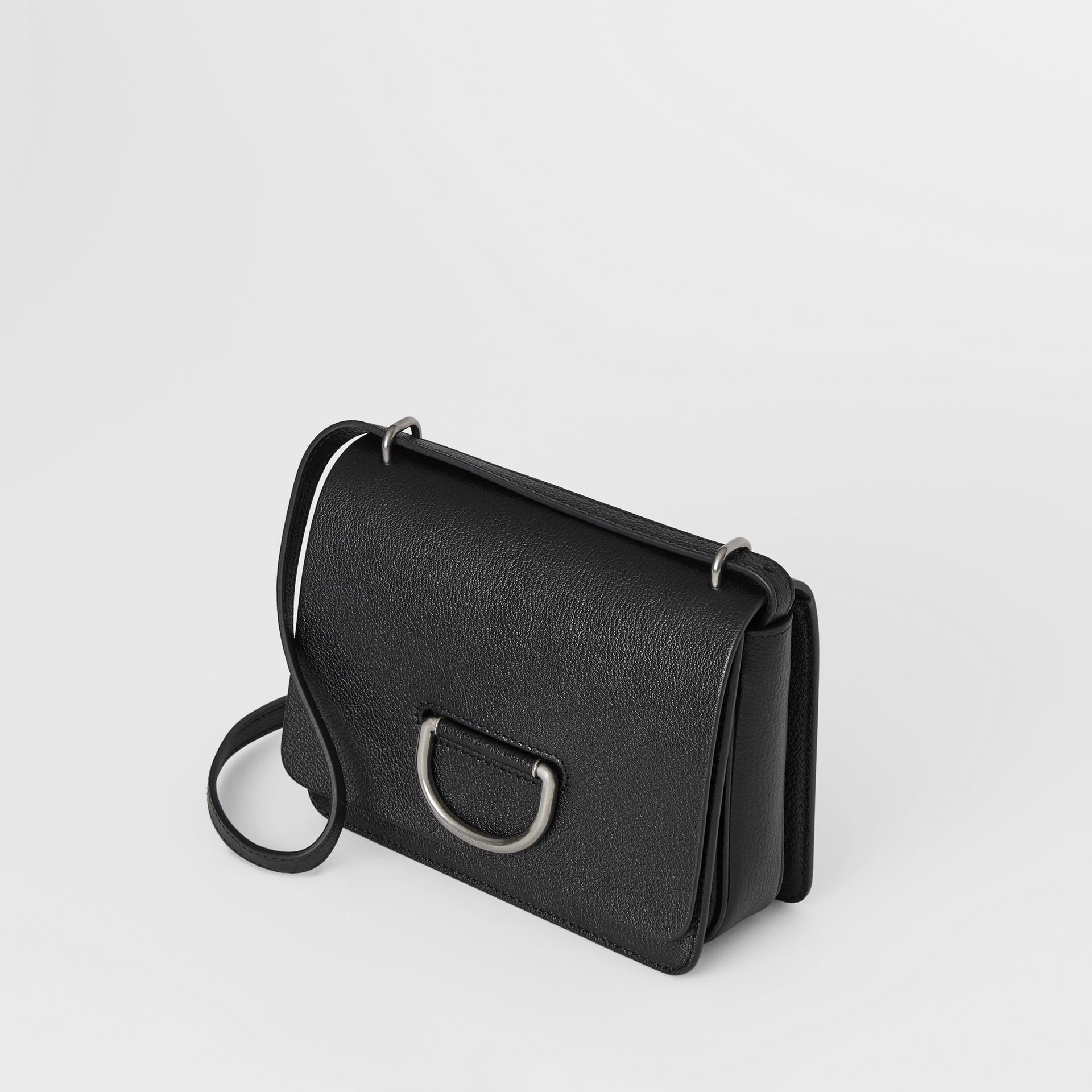 The Small Leather D-ring Bag in Black - Women | Burberry United Kingdom - gallery image 4