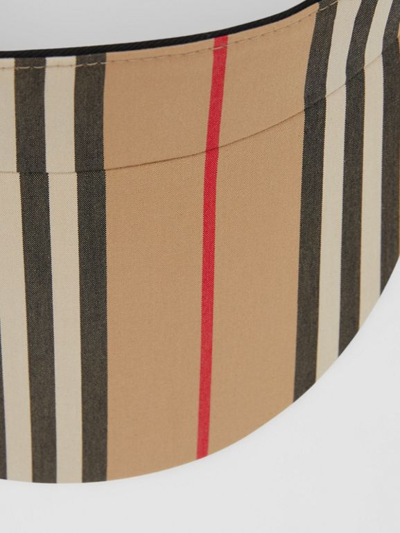 Icon Stripe Visor in Archive Beige | Burberry - cell image 1