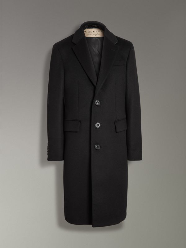 Wool Cashmere Tailored Coat in Black - Men | Burberry - cell image 3