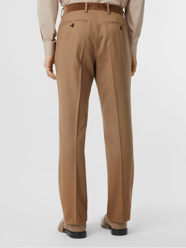 Wool Flannel Tailored Trousers in Warm Camel - Men | Burberry - cell image 2