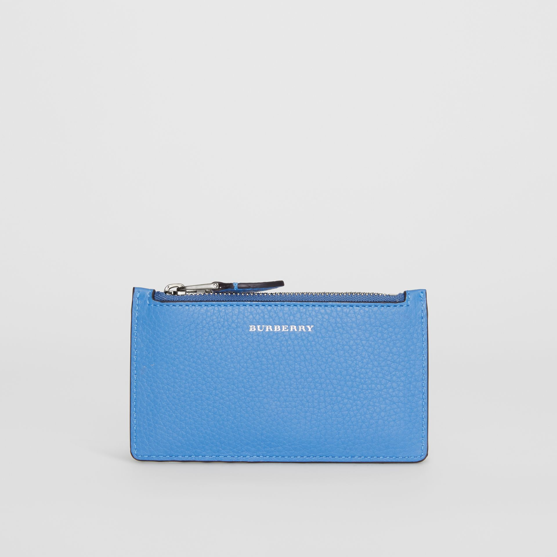 Two-tone Leather Card Case in Hydrangea Blue - Women | Burberry - gallery image 2