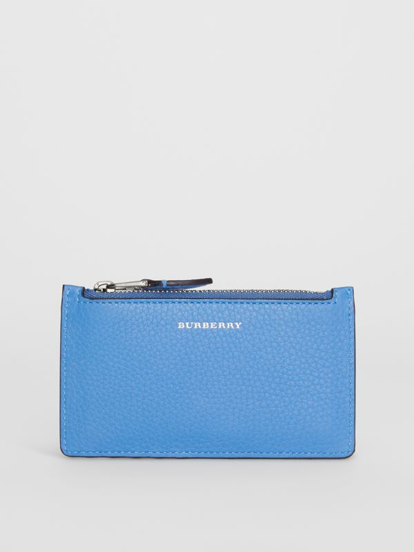 Two-tone Leather Card Case in Hydrangea Blue - Women | Burberry - cell image 2