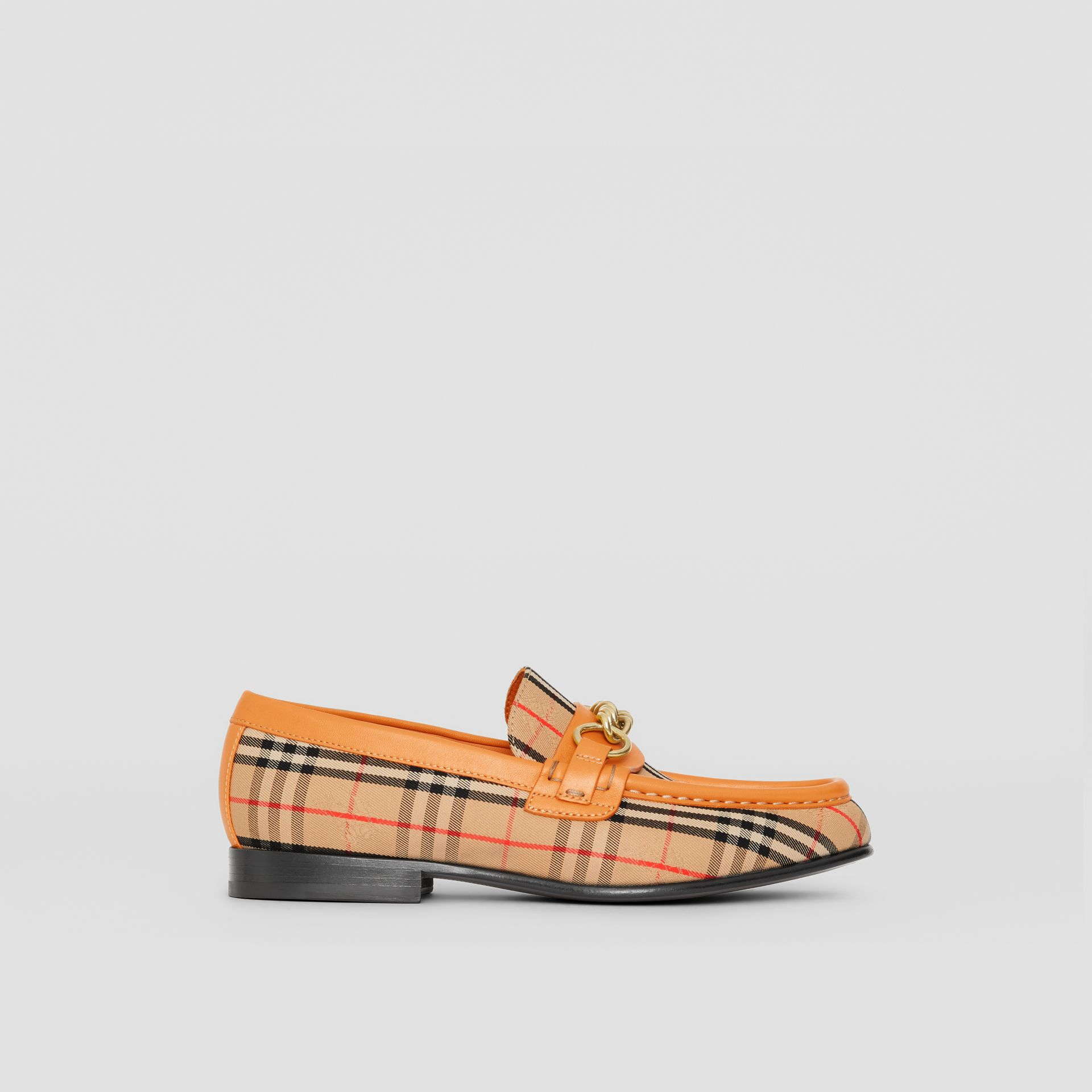 The 1983 Check Link Loafer in Yellow Barley - Women | Burberry - gallery image 4