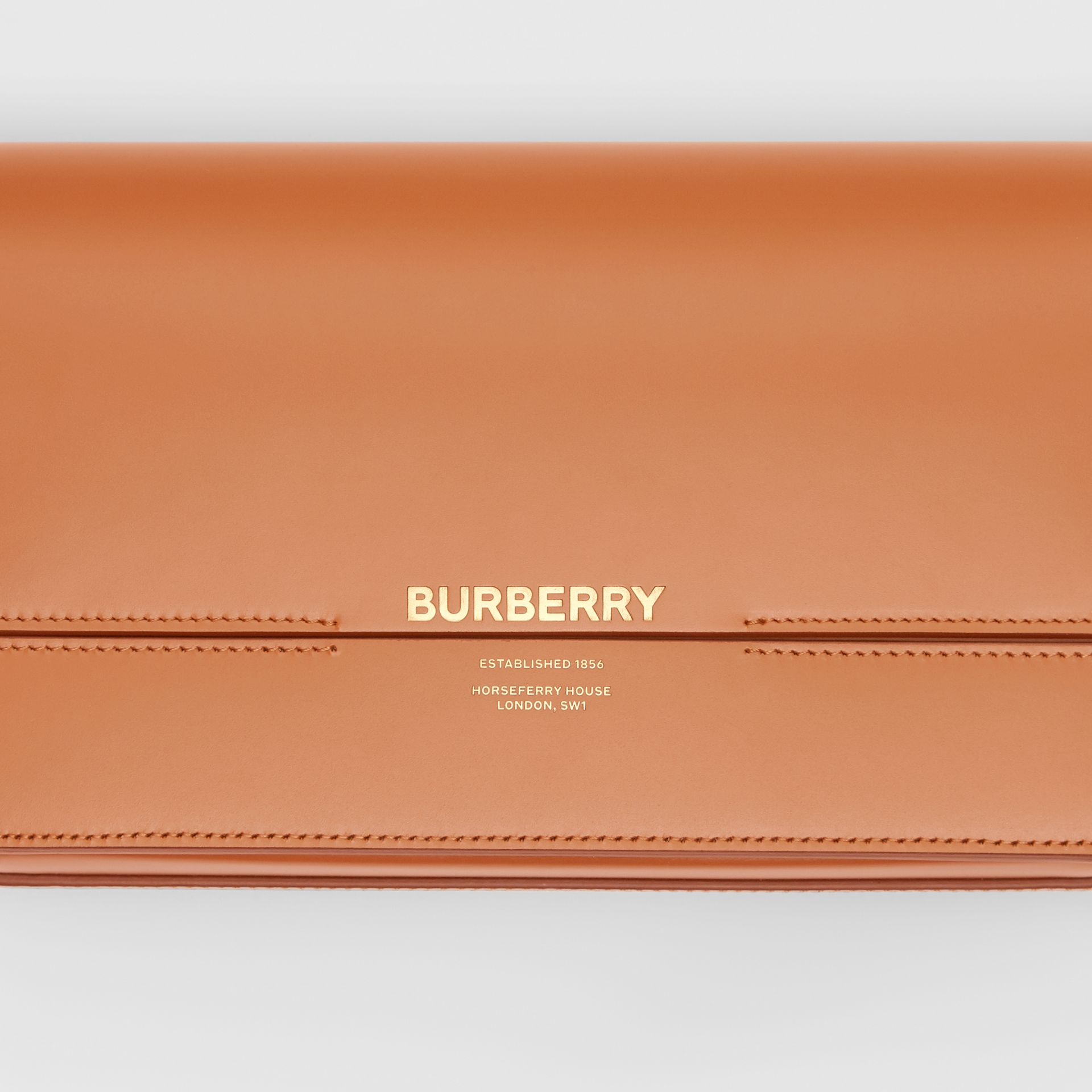 Mini Leather Grace Bag in Nutmeg - Women | Burberry - gallery image 1