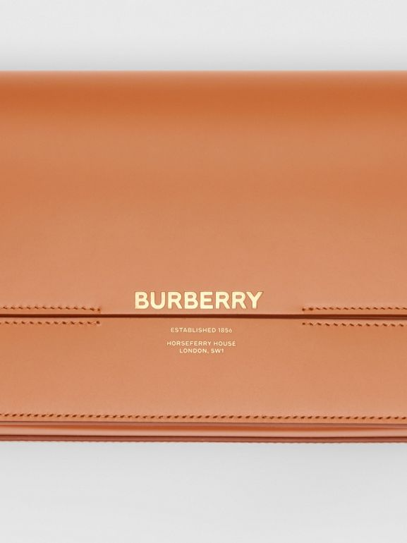 Mini Leather Grace Bag in Nutmeg - Women | Burberry United Kingdom - cell image 1