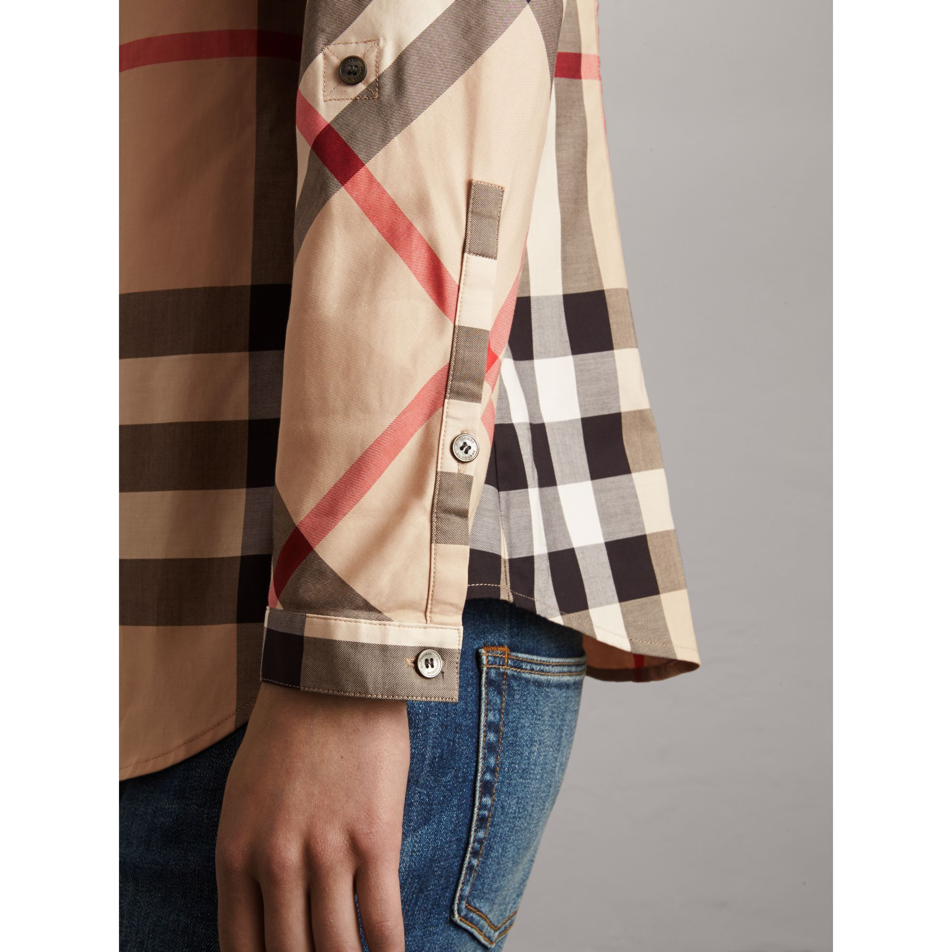 Bluse aus Stretchbaumwolle in Check (New Classic) - Damen | Burberry - Galerie-Bild 2