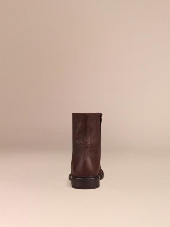 Cioccolato fondente Stivaletti in pelle di cervo Cioccolato Fondente - cell image 3