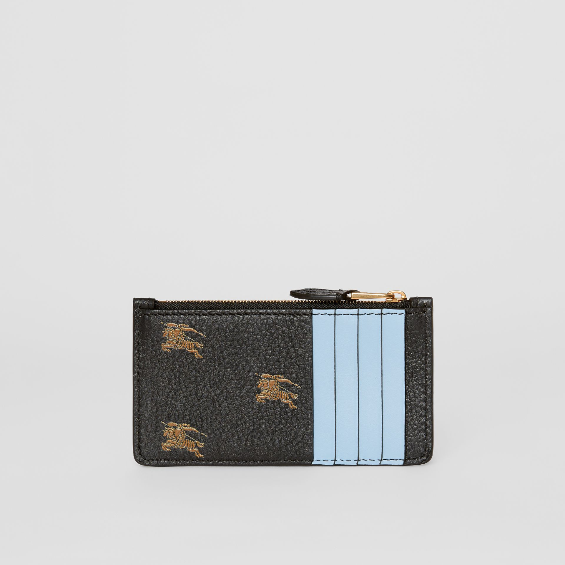 Equestrian Knight Leather Zip Card Case in Black - Women | Burberry - gallery image 3
