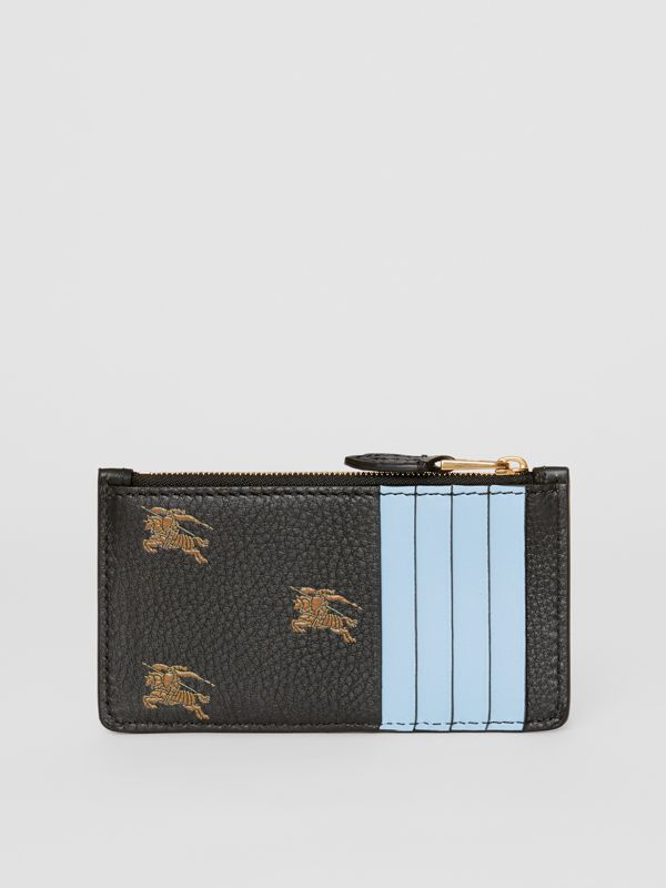 Equestrian Knight Leather Zip Card Case in Black - Women | Burberry - cell image 3