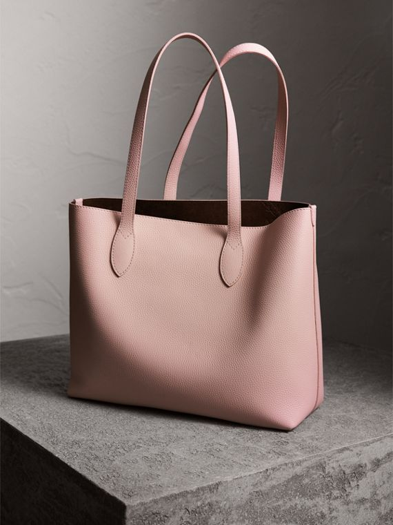 Large Embossed Leather Tote in Pale Ash Rose - Women | Burberry Canada - cell image 3